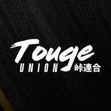 Touge Union Katakana JDM Sticker Drift Japan Tuning Stance Car Decal