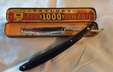 Vintage cut throat razor taylors 1000 in tin