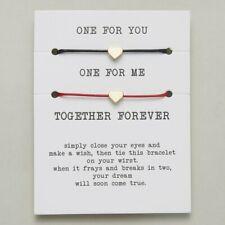 2 pcs Love Paper Card Bracelets Bead String Weave Women Party Bracelets Gift Hot