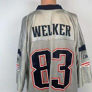 Reebok Wes Welker New England Patriots Replica Jersey Vtg NFL Alternate Size XL