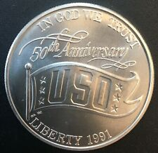 United States - Silver 1 Dollar Coin - 50 Years of Service - 1991 - Proof