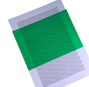 4x Green Overlay A5 Pack - Visual Stress Relief Dyslexia Reading Aid PVC Sheets