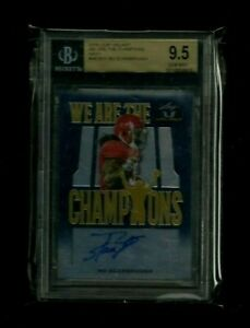 Bo Scarbrough Leaf Valiant WE ARE THE CHAMPIONS Auto RC #/25! BGS 9.5 GEM MINT!