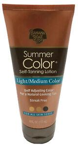 Banana Boat Summer Color Self-Tanning Lotion, Light/Medium Color, 6oz