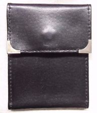 Wallet Vintage Leather BLACK  ID CREDIT BUSINESS CARD 1980s 1990s