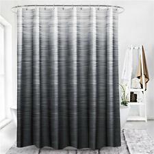 Gradient Stripe Print Polyester Bathroom Waterproof Shower Curtain Home Decor HD