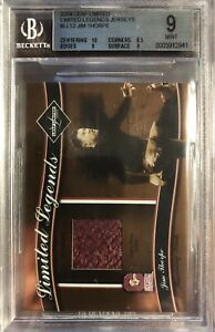 JIM THORPE 2004 Leaf Limited Legends Jerseys #LL12 10/50 HOF BGS 9.0 POP 1