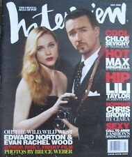 EDWARD NORTON & EVAN RACHEL WOOD May 2006 INTERVIEW Magazine CHLOE SEVIGNY +++