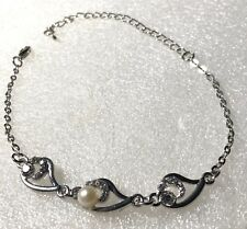 tone 11� ankle bracelet silver