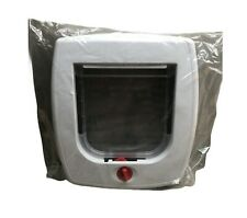 Cat Flap with Locking System and transparent swing flap / Door New and Sealed