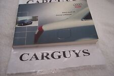 2002 AUDI A4  OWNERS MANUAL WITH CASE