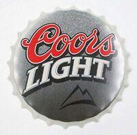 """Coors Beer Decorative Bottle Cap Bar Pub Retro Man Cave Metal Tin Sign 13.8"""""""