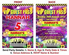 BIRTHDAY PARTY INVITATION Lanyard VIP Guest Pass Picnic Park Style