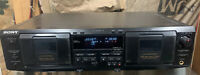 Sony TC-WE435 Stereo Dual Cassette Deck Tape Player Recorder Parts Or Repair