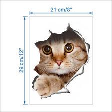 3D Wandsticker Wandtattoo Badezimmer WC niedliche Katze ca. 29cm x 21cm