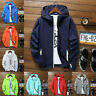 Men Waterproof Wind Breaker Coat Zipper Hoodie Jacket Quick-Dry Sports Outwear