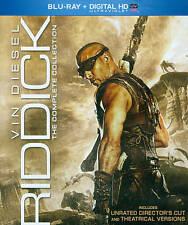 Riddick Complete Collection NEW Bluray disc/case/cover only-no digital 2014