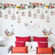 1PC Flower Birds Birdcage Wall Sticker Decals Wall Art Home Window Bedroom Decor