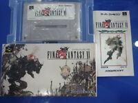Super Famicom Final Fantasy 6 VI FF Japan w/ box SFC
