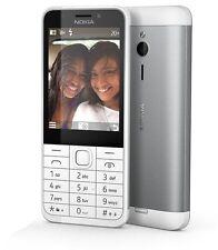 touches Téléphone portable Nokia 230 Blanc Argent long ETRE prêt Lampe de poche