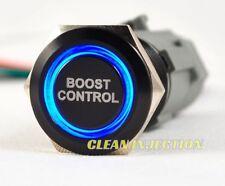 BLACK LED 19MM BOOST CONTROL Billet button switch race WRX STI HONDA EVO X AUDI