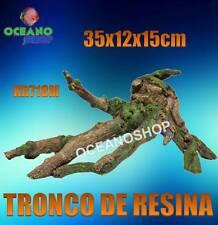 TRONCO RESINA 35X12X15cm ACUARIO DECORACION ADORNO PECERA TERRARIO ICA KR718M