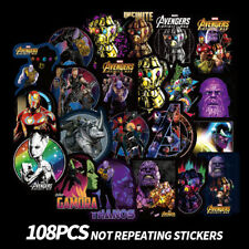 108x Marvel Avengers Super Hero Stickers For Car Laptop Skatboard luggage Decals