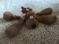 1979 Hallmark Rodney Reindeer Vintage Collectible Christmas Plush Toy Floppy