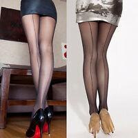 Sexy Women Sheer Transparent Line Back Seam Tights Stockings Pantyhose Fashion