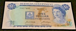 1970 Bermuda Government 1 Dollar Note in EF Condition NICE Collectible Note