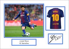 Lionel Messi FC Barcelona Signed Print Poster Gift souvenir