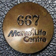 Vintage MANULIFE CENTRE SECURITY BADGE / PINBACK #667 - Nice - BRASS