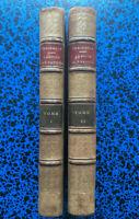 1864 THACKERAY LA FOIRE AUX VANITES 2 LIVRES LITTERATURE ANGLAISE MOEURS SATIRES