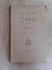 Emile de PERCEVAL. Dans les archives du Vte Lainé. Champion. 1929.