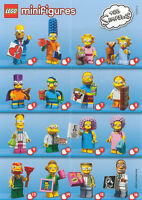 LEGO Minifigures The Simpsons Series 2 Full Complete Set 16 Re Sealed 71009 CMF
