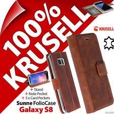Krusell Sunne support en cuir étui rabattable pour Samsung Galaxy S8