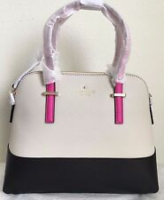 NWT Kate Spade Cedar Street Maise Bag Purse $298 Black/Pebble/Vivid Snapdragon
