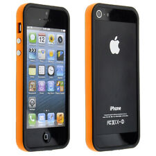 iPhone 5 5S SE Bumper Hülle Case Cover Handy Schutz TPU Silikon Orange für Apple