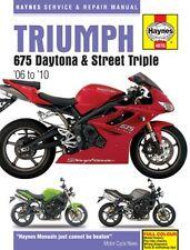 Haynes Manual TRIUMPH 675 Daytona & Street Triple 2006 to 2010