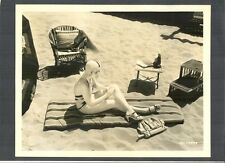 2 PHOTOS OF SEXY ANITA PAGE IN A SWIMSUIT AT THE BEACH - 1930'S CHEESECAKE  CHSK