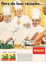 PUBLICITE ADVERTISING  1959  MAGGI   potage pois au jambon