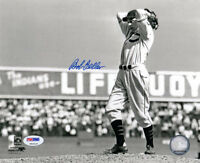 BOB FELLER SIGNED AUTOGRAPHED 8x10 PHOTO CLEVELAND INDIANS PSA/DNA