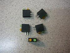 3mm Bi-Level Green/Orange LED Indicator Diffused 4-Pin/BLACK Housing NEW Qty.5