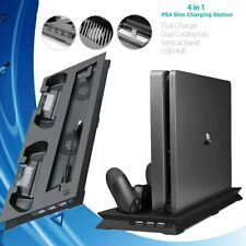 Base de carga para 2 Mandos PS4 PlayStation4  C/ 2 Ventiladores Enfriadores 3USB