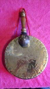 Large Antique Vintage Victorian Edwardian Suckling UK Burmese Brass Dinner Gong