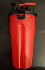 Dog Pet Travel Food and Water Bottle, Dual Chamber Design, Hike, Camping, RED