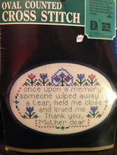 """Designs For The Needle Oval Counted Cross Stitch """"Thank You Mother"""" #4023 New!"""