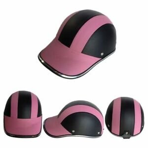 Motorcycle Bike Scooter Baseball Cap Style Half Open Face Safety Hard Helmet Hat