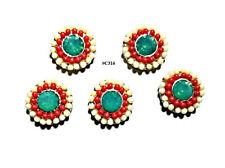 5pc Nail Art Charms 3D Nail Rhinestones Decoration Jewelry DIY Bling - C316