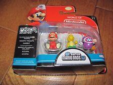 World of Nintendo Super Mario Bros U Micro Land 1-1 Squirrel Mario Nabbit 3 Pack
